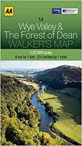 Walkers Map 14 Wye Valley & the Forest Of Dean