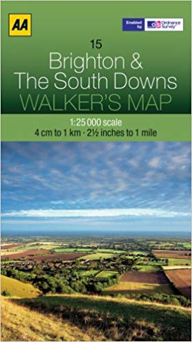 Walkers Map 15 Brighton & the South Downs