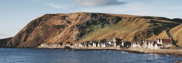Crovie & Crovie Head, Aberdeenshire Postcard (H Pan CB)