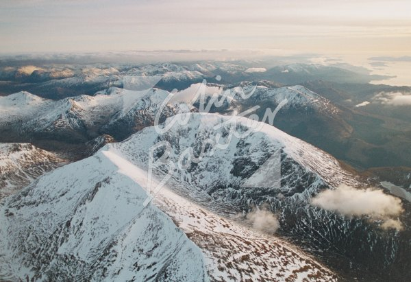 Ben Nevis from north From Air Postcard (H Std CB)