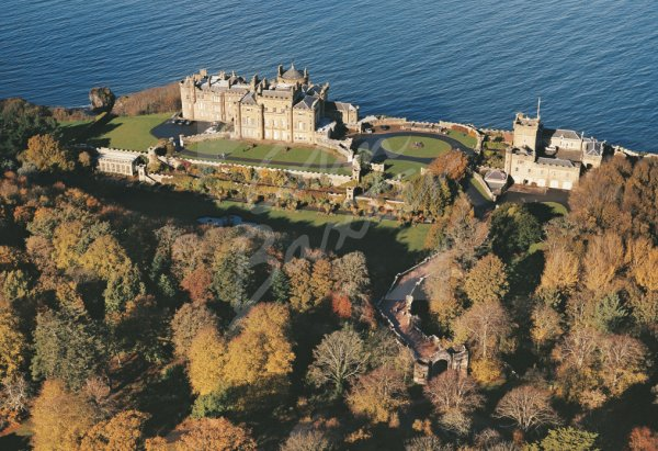 Culzean Castle, Ayrshire From Air Postcard (H Std CB)