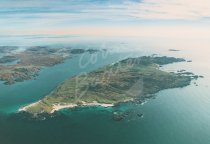 Iona & Ross of Mull to South From Air Postcard (H Std CB)