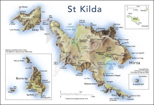 Map of St Kilda Postcard (H Std CB)