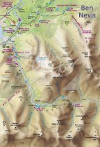 Map of Ben Nevis Postcard (H Std CB)