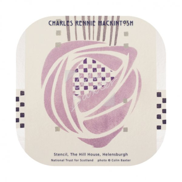 Mackintosh Stencil, Hill House Coaster