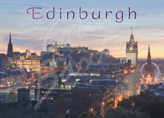 Edinburgh - City at dusk Magnet (H CB)