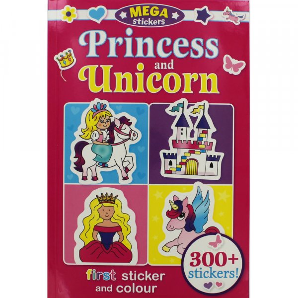Mega Stickers - Princess & Unicorn