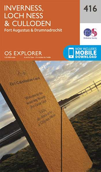 Explorer Map 416 Inverness, Loch Ness & Culloden