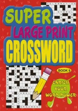 Super Large Print Crossword 3 titles Asst