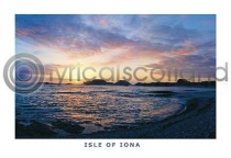 Iona, Sunset At Camus Postcard (HA6)