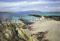 Beach At North End, Iona Postcard (HA6)