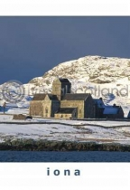Iona Abbey In Snow Postcard (VA6)