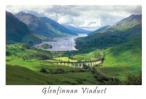 Glenfinnan & the Viaduct Postcard (HA6)