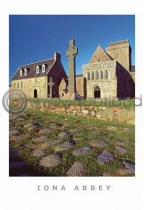 Iona Abbey & Street Of Dead Postcard (VA6)
