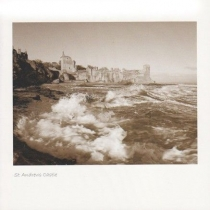 St Andrew's Castle & Waves (Sepia)