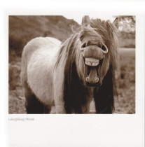 Laughing Horse (Sepia)