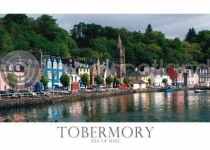 Waterfront at Tobermory Postcard (HA6)