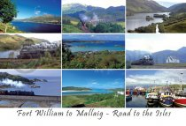 Fort William to Mallaig, Road to the Isles Postcard (HA6)