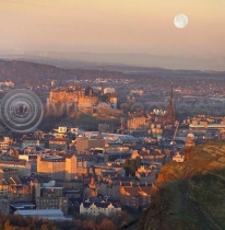 Moonrise Edinburgh (Colour)