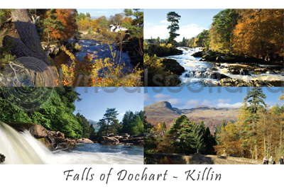 Falls of Dochart at Killin Postcard (HA6)