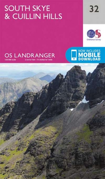Landranger Active 32 South Skye & Cuillin Hills