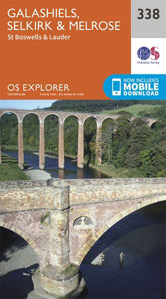 Explorer Map 338 Galashiels, Selkirk & Melrose
