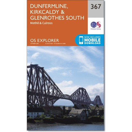 Explorer 367 Dunfermline, Kirkcaldy & Glenrothes South