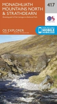 Explorer Map 417 Monadhliath Mountains North & Strathdearn