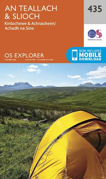 Explorer Map 435 An Teallach & Slioch