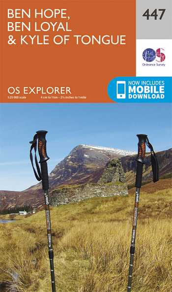 Explorer Map 447 Ben Hope, Ben Loyal & Kyle of Tongue
