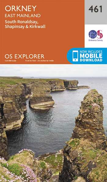 Explorer Map 461 Orkney - East Mainland