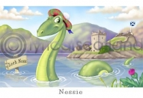Nessie, Loch Ness Cartoon (HA6)