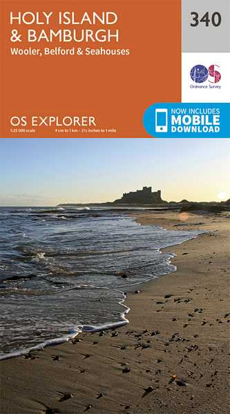 Explorer Map 340 Holy Island & Bamburgh