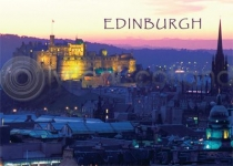 Edinburgh Castle at Dusk Magnet (H)