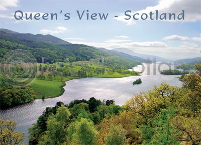 Scotland - Queen's View Loch Tummel Magnet (H)