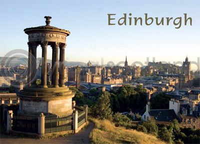 Edinburgh from Calton Hill Magnet (H)