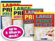 Word Search A5 Large Print - 4 Titles