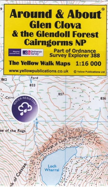 A&A Map Glen Clova & the Glendoll Forest, Cairngorms Nat Pk