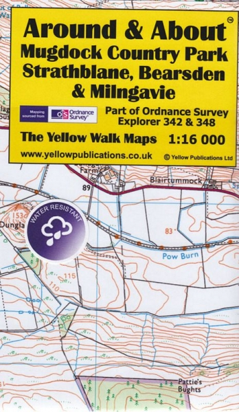 A&A Map Mugdock Country Pk, Strathblane, Bearsde & Milngavie