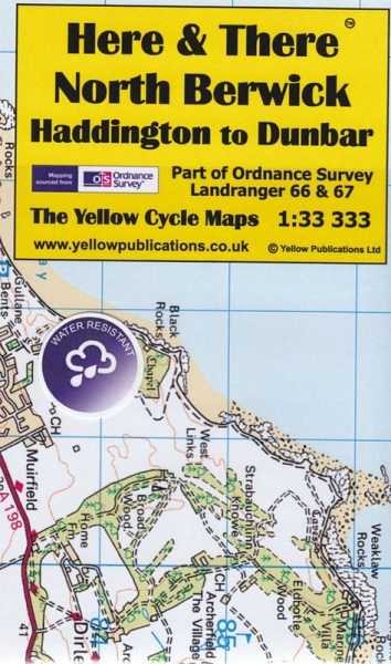 H&T Map North Berwick - Haddington to Dunbar