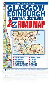 Glasgow, Edinburgh & Central Scotland A-Z Rd Map