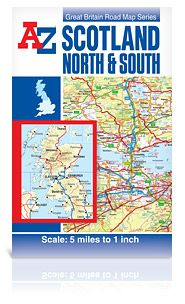 Scotland A-Z North & South Road Map