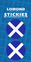 St Andrews Cross - Saltire Round x 2 Small Stickies