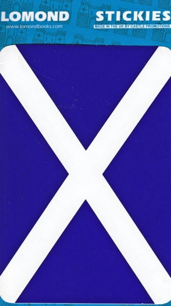St Andrews Cross - Saltire Rectangle Large Stickies