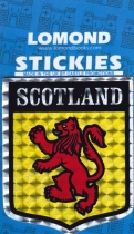 Scotland Glitter Foil Shield Stickies