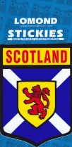 Scotland St Andrews Cross & Lion Shield Stickies