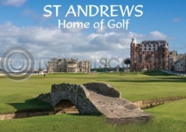 St Andrews Home of Golf Magnet (H)