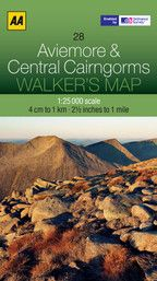 Walkers Map Aviemore and Central Cairngorms